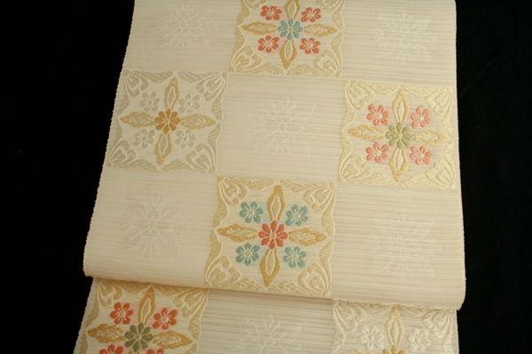 【楽天市場】【藤原織物謹製】西陣織 夏用 紗織 本袋帯 「市松華文」:きもの 和<なごみ>