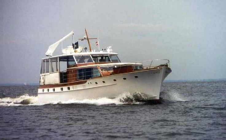 1966 Trumpy Flushdeck Cruiser 55 footer. | Classic & Antique Yachts, Tall Ships, War Ships ...