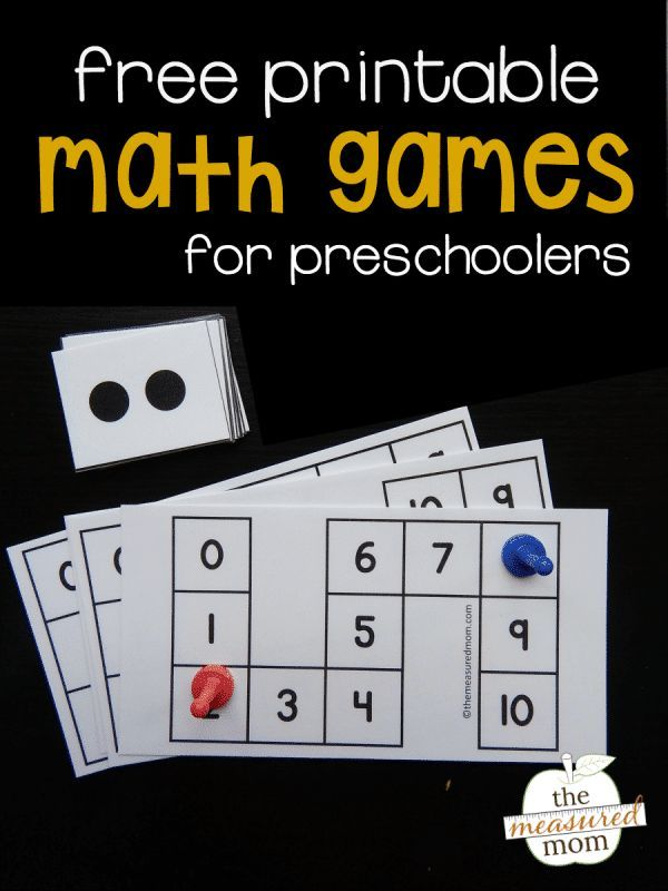 Counting to Ten FREE Printable Video games for Preschoolers