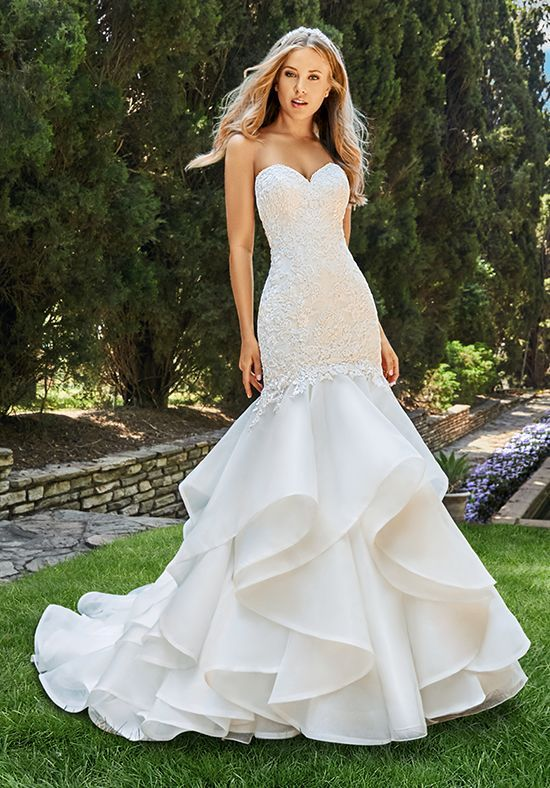 Strapless mermaid wedding dress | Moonlight Bridal | https://trib.al ...