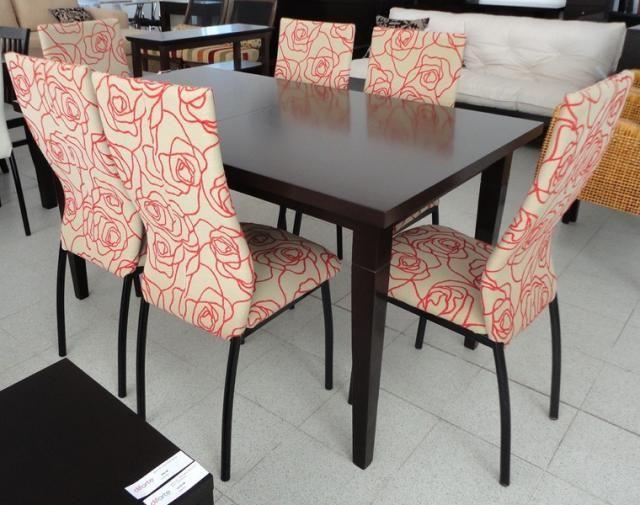 Mesa extensible cecilia 1.50x0.90 a 2.00m sillas agus caño pintado ...