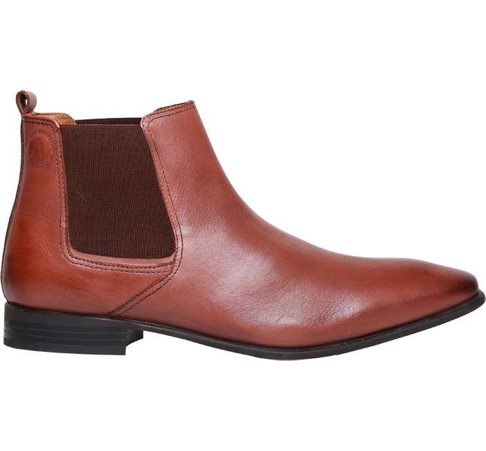 Hush Puppies Brown Men S Formal Boots In High Ankle Design Slide Elastics For Comfort Buy These Leather Boots O Mens Brown Boots Mens Formal Boots Boots Men