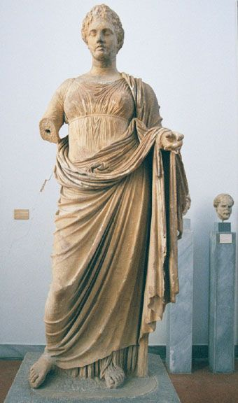 Themis (goddess of truth and justice), Greece. Would originally have been holding a scale and sword.