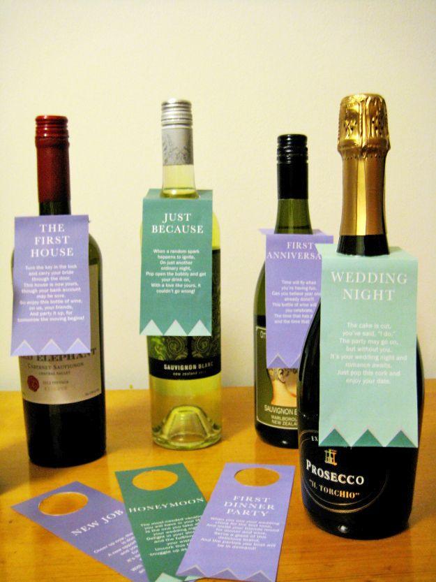 wine wedding shower gift poem%0A Wine Basket Bridal Shower Gift   Printable Poem Gift Tags