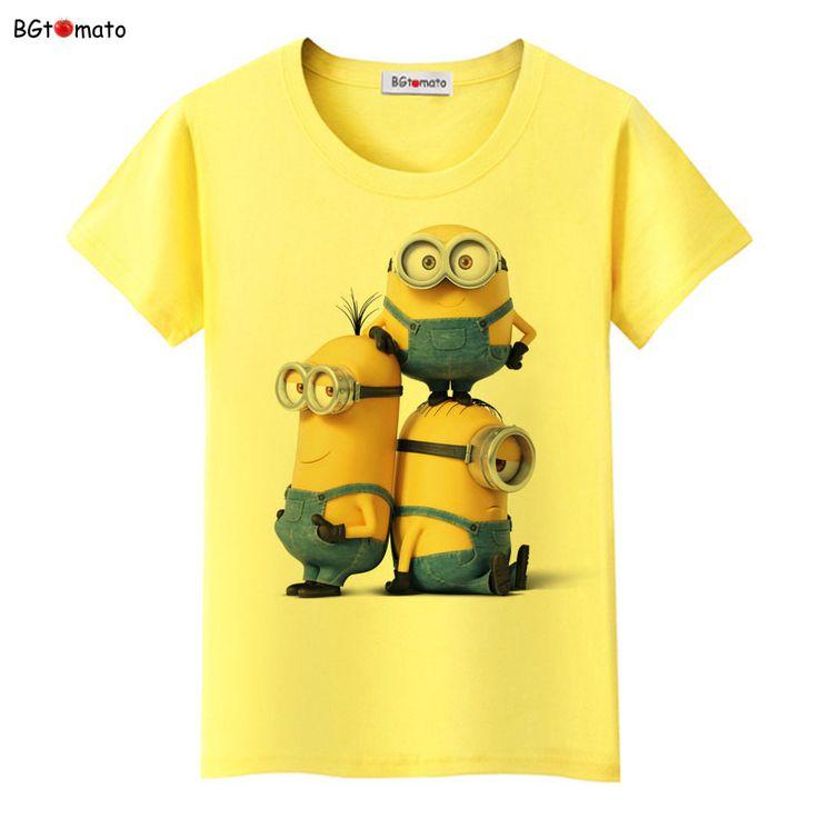 Bgtomato tシャツ手下面白いtシャツ女性熱い販売夏クールカワイイtシャツ激安セール真新しい漫画手下tシャツ