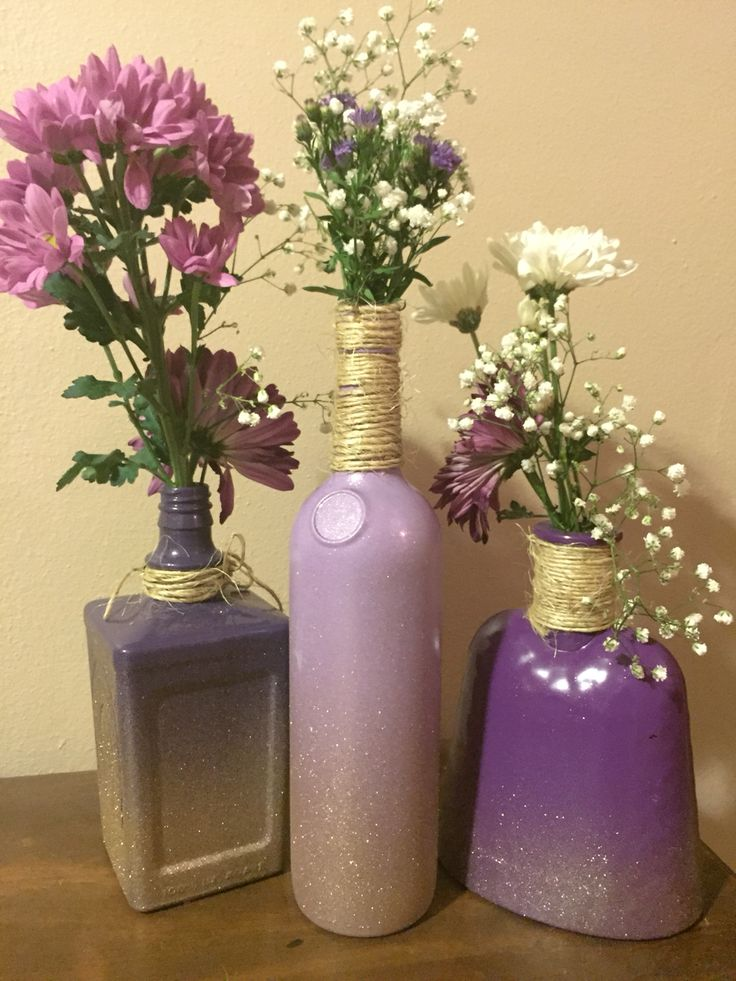 25 best ideas about alcohol bottle crafts on pinterest for Liquor bottle vases