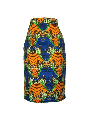 Fair Trade Bold print pencil skirt. Ethical fashion from FAIR+true via fashion-conscience.