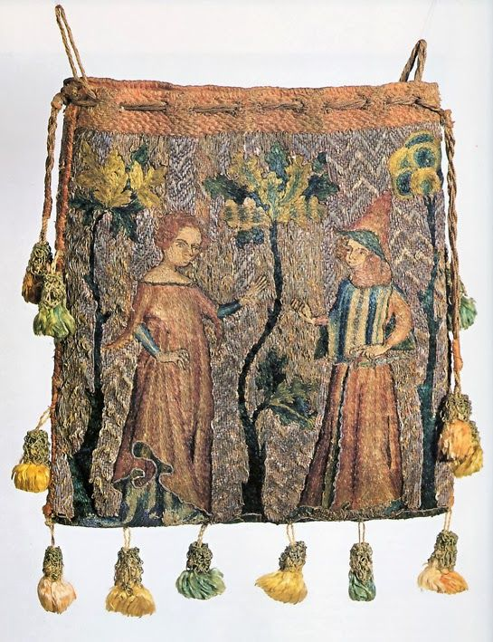 St. Thomas guild - medieval woodworking, furniture and other crafts: Aumonieres and purses from Germany