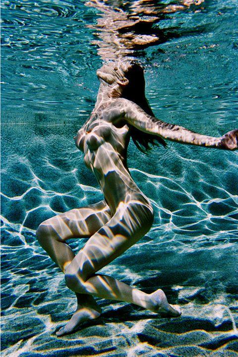 Sexy women skinny dipping