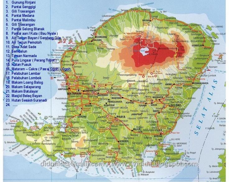 Lombok Island Google Map