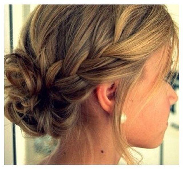 how to put braided hair in a bun