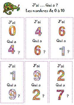 Lire les nombres de 0 à 10