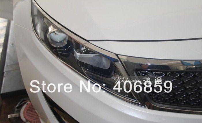 ABS Chrome Front headlight Lamp Cover For 2011 KIA Optima/K5
