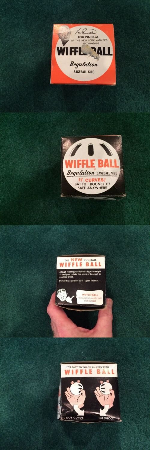 Plastic Training Balls and Bats 108140: Vintage Wiffle Ball.With Lou Pinella Photo And Signature Imprinted On Box -> BUY IT NOW ONLY: $33 on eBay!