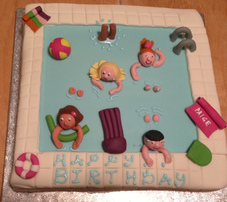 And finally my version of a swimming pool cake.