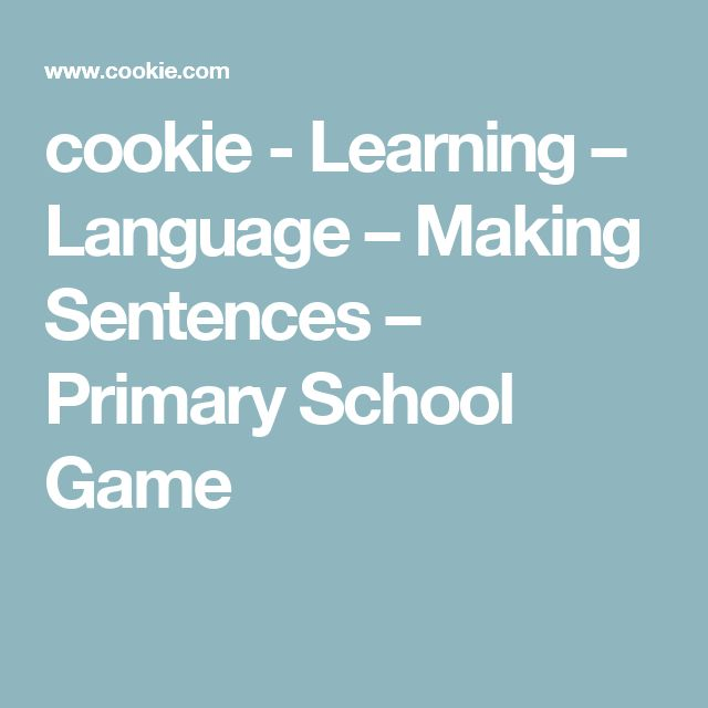 cookie - Learning – Language – Making Sentences – Primary School Game