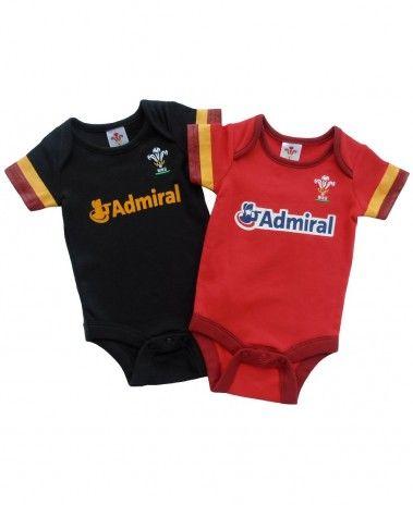 Wales WRU Rugby Baby Bodysuits - 2015/16 Season