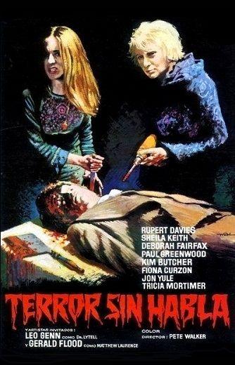Cartel película: Terror sin Habla (1974, Horror Films británico)
