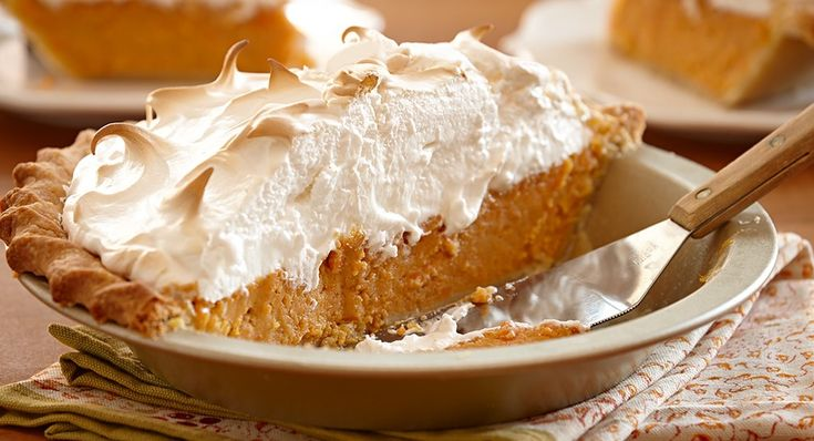This Thanksgiving skip the pumpkin pie and prepare this Southern favorite instead. A richly spiced sweet potato filling is topped with a fluffy mound of marshmallow meringue that's toasted golden brown. (Click here for Spiced Pumpkin Pie with Pepita Crust)