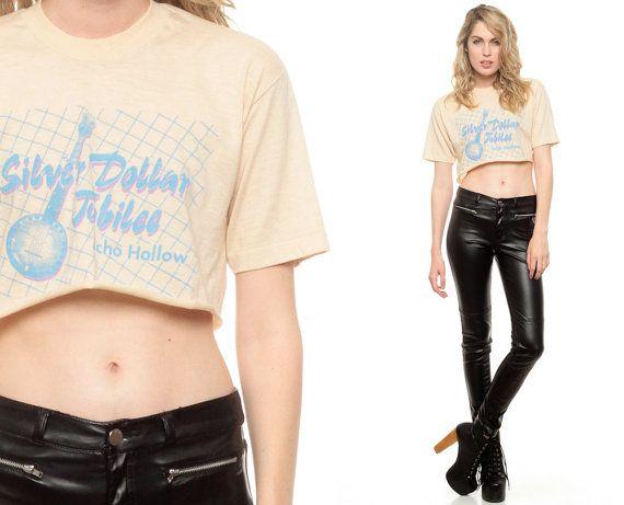 BANJO Shirt Cropped Tshirt Silver Dollar JUBILEE 80s by ShopExile