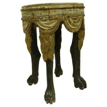 Check out this item at One Kings Lane! Antique Italian Footed Stool