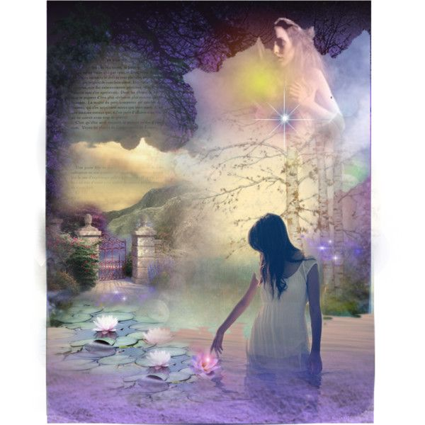 The lotus by jasmoonbutterfly on Polyvore featuring art
