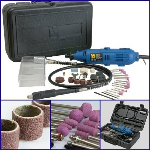 100-PIECE-Variable-Speed-Rotary-Tool-Kit-Grinder-Cutter-Accessories-Dremel-Set #WEN