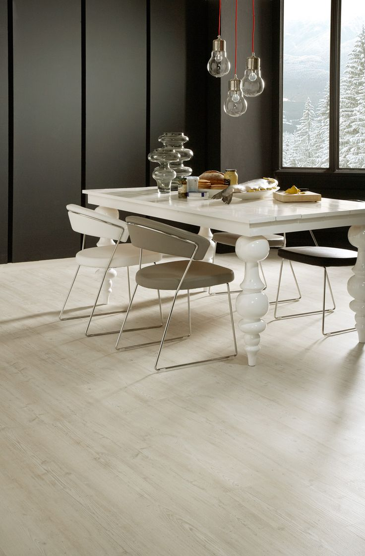 Colonia Nordic White Oak - this white floor helps to achieve an ultra-contemporary look