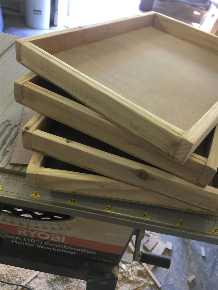 Tray blanks for a chalk paint workshop