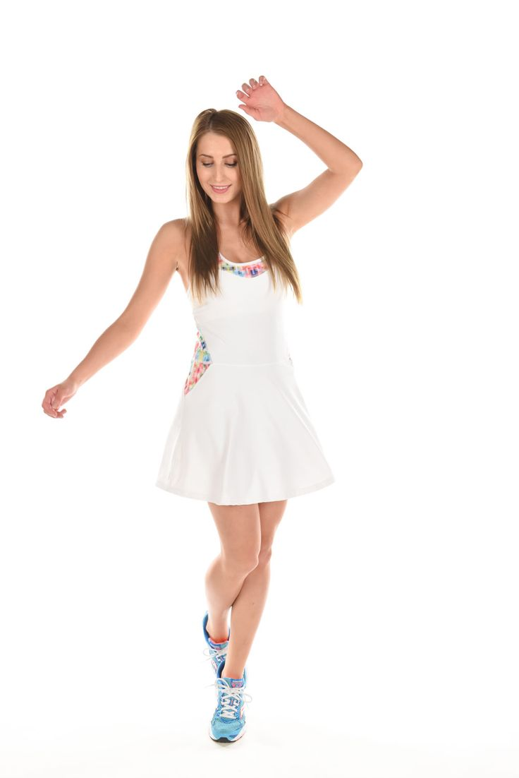 Solstice tennis dress. Tonic tennis by Martina Hingis, Spring 2016.