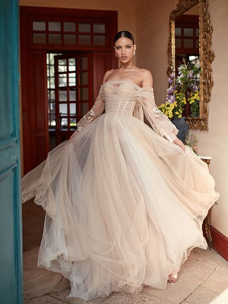 Magnolia dress (Ballgown, Off the Shoulder, Sleeves, Puffed or Poof) from  Galia…