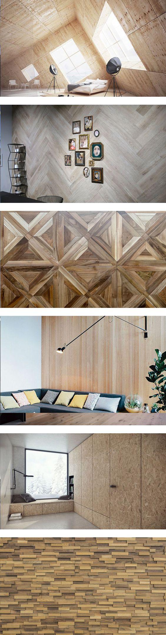 Tendencia: Madera en Muros // En las últimas temporadas, los interioristas han decidido revestir los muros con madera. Se trata de una tendencia que desde un punto de vista estético causa un enorme impacto, tanto que incluso el resto del interiorismo gira por fuerza en torno a este elemento.