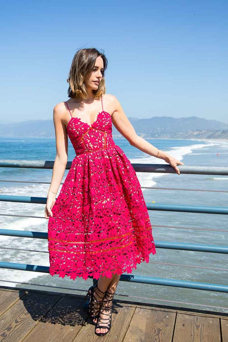 Louise Roe - Red Sundress at Santa Monica Beach - LA Street Style - Front Roe fashion blog 1