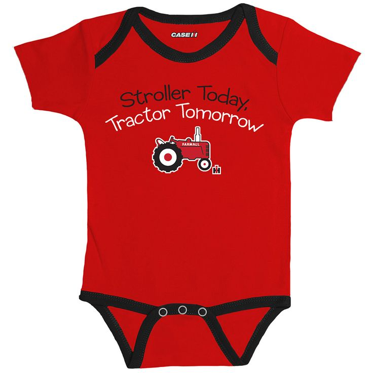 I wasn't this for our little guy!  IH-Farmall Stroller To Tractor Onesie