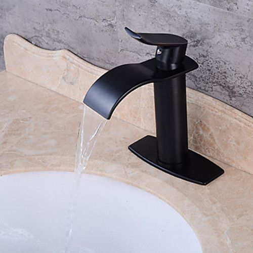 Centerset Ceramic Valve One Hole Oil Rubbed Bronze Waterfall