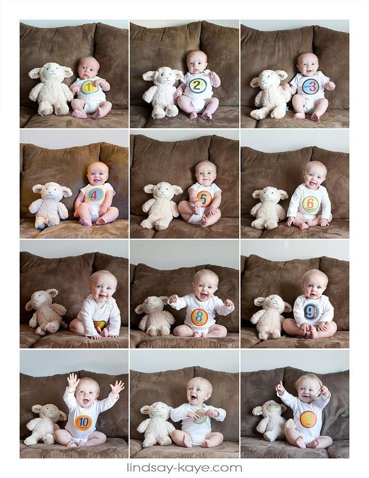 Extremamente As 29 melhores imagens em Ensaio Mensal Bebeês no Pinterest  JC41