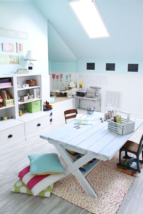 1000 images about attic spaces on pinterest attic for Office playroom