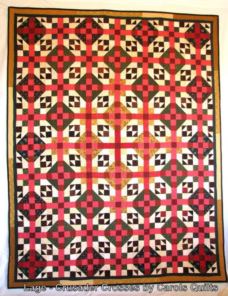 Crusader Crosses by Carol's Quilts using her templates. Quilting made simple-r :O)
