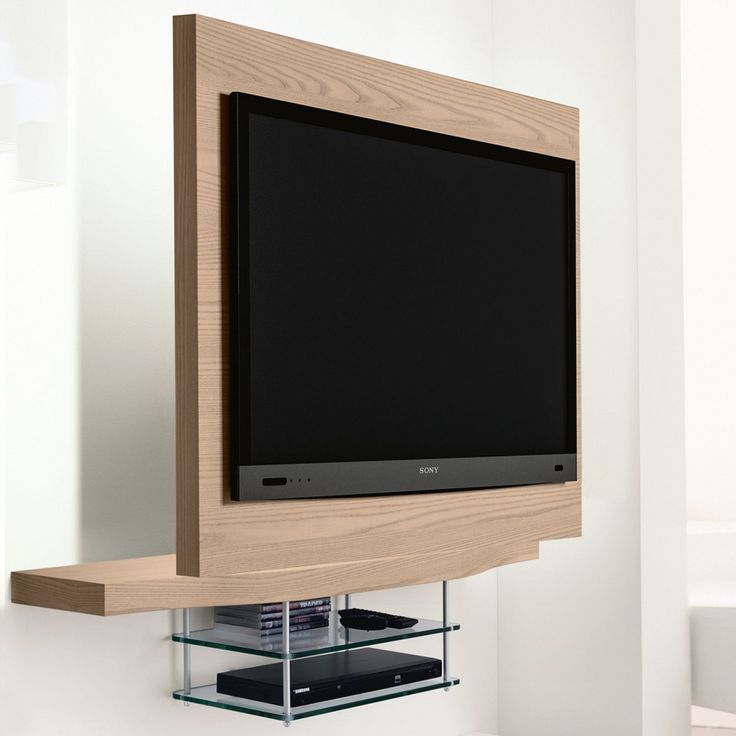 Logic suspended swivelling TV stand in pearl elm finish