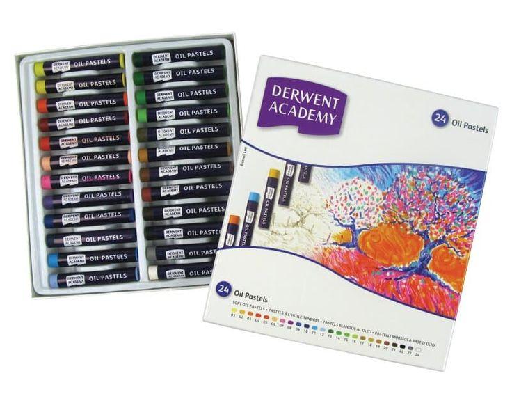 DERWENT OLAJPASZTELL KRÉTA 24 színű készlet  Élénk színű, művész minőségű kréta. Ideális színgazdag rajzok készítéséhez.  Nemcsak önmagában hanem más technikával keverve fehér vagy színes papírra, kartonra és textil felületre is alkalmas.