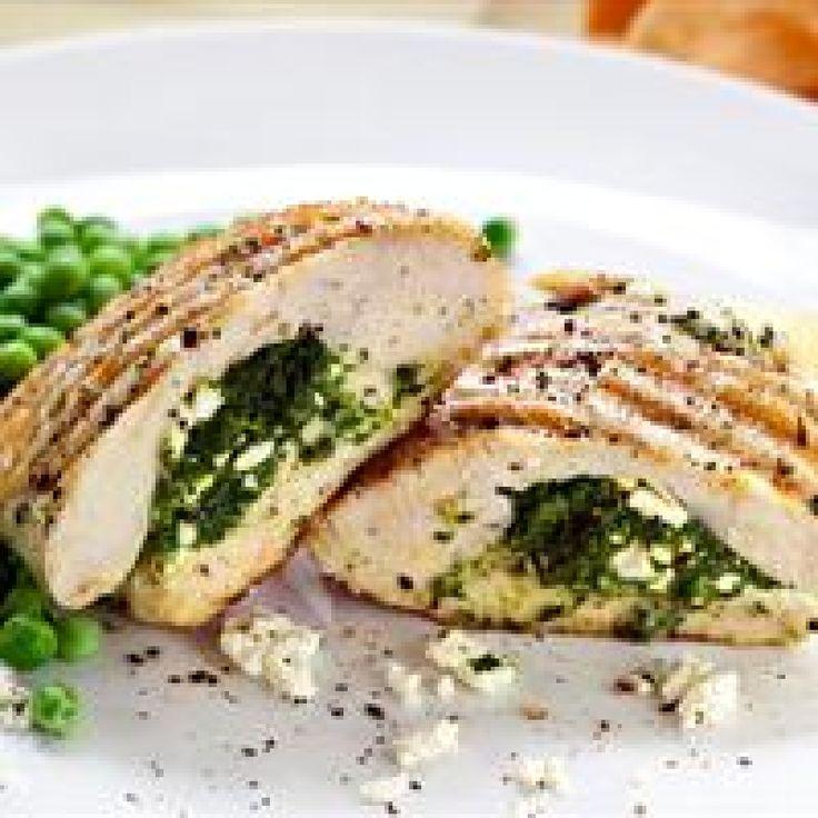 Κοτόπουλο γεμισμένο με φέτα και δυόσμο - gourmed.gr