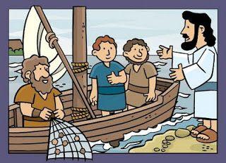 Mateo 4:18-20 Andando Jesús junto al mar de Galilea, vio a dos hermanos, Simón, llamado Pedro, y Andrés su hermano, que echaban la red en el mar; porque eran pescadores. Y les dijo: Venid en pos de mí, y os haré pescadores de hombres. Ellos entonces, dejando al instante las redes, le siguieron.♔