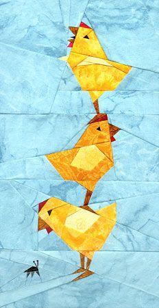 Chicken Stack Paper Pieced Pattern at paperpanache.com
