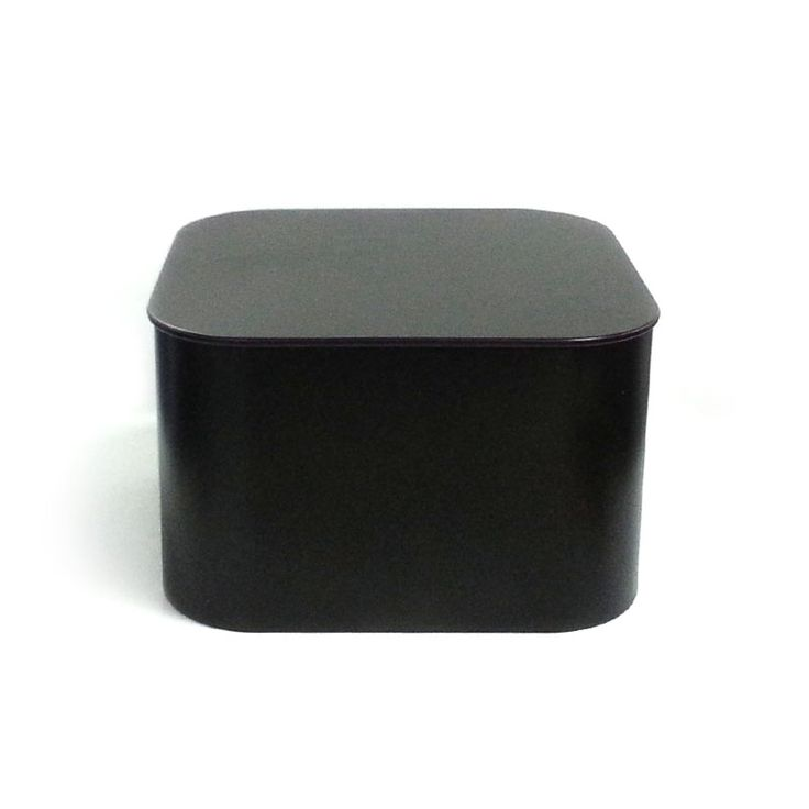 black square metal food tin box for rice