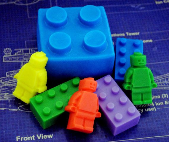 Lego Type Soap Pack  gift geeky soap parody soap by NerdySoap