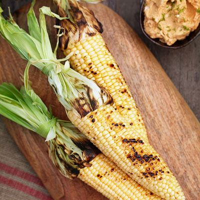 Grilled Corn on the Cob with Ancho Chili-Lime Butter | Recipe