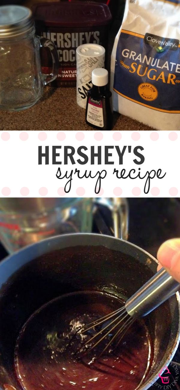 "Copycat Homemade Hershey's Chocolate Syrup Recipe that tastes just like the ""real"" thing - my kids can't even tell the difference!  I love the extra richness in this recipe!"