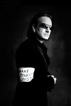 Bono -  is an Irish singer, musician, venture capitalist, businessman and activist.  Lives out humanitarian aid through his own life, leads by example, not just words!!! #inspires #manofhonor