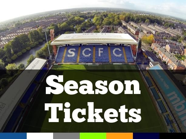 Stockport County Season Tickets 2016-17 on sale noon June 10th 2016
