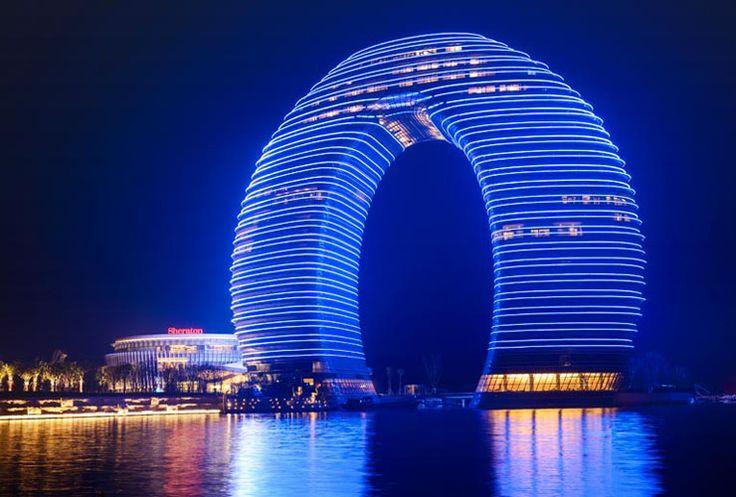 Hotel de lujo en las orillas del lago Taihu en China